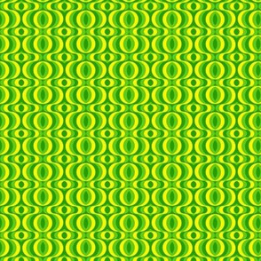 retro waves green yellow