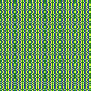 retro waves blue yellow green