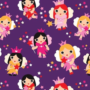 Girls fairy princess sparkle pattern