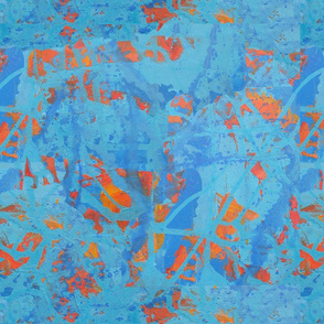 paint abstract blue and orange