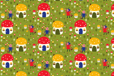 Bugs At Work fabric by heidikenney on Spoonflower - custom fabric