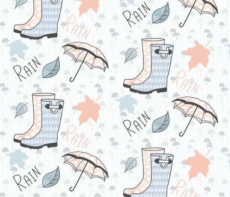 Wellies fabric by smile-peace-love-creative on Spoonflower - custom fabric