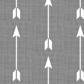 Split arrows on Grey Linen - Grey Arrows