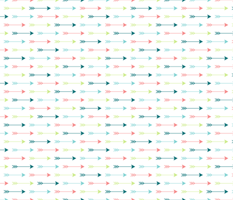 Colourful Arrows Horizontal fabric by sierra_gallagher on Spoonflower - custom fabric