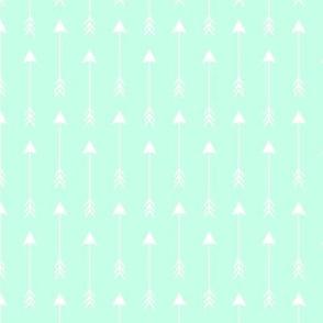 White Arrows on Mint