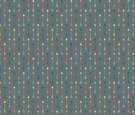 Colourful Arrows on Grey Vertical fabric by sierra_gallagher on Spoonflower - custom fabric
