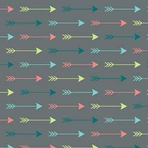Colourful Arrows on Grey Horizontal