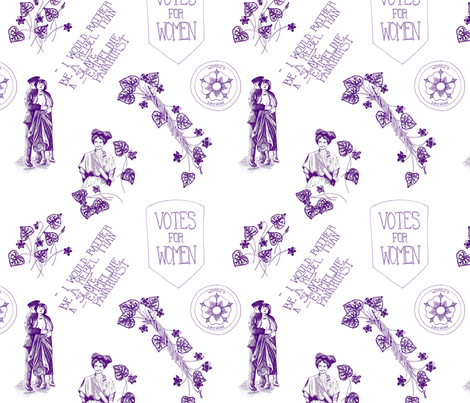 A Suffragette Toile fabric by gypsymothdesign on Spoonflower - custom fabric