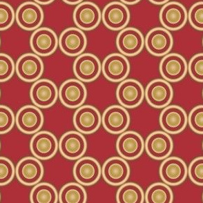 Gold Circles on Red © Gingezel™