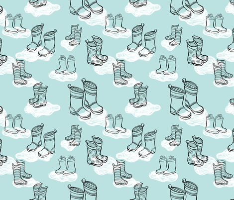 rainboots fabric by kristinnohe on Spoonflower - custom fabric