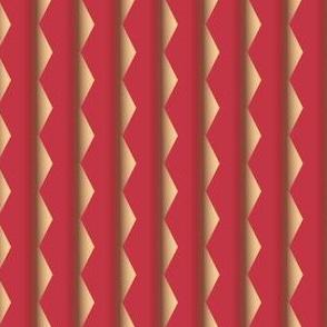 Geranium Reds Zigzag Stripe © Gingezel™