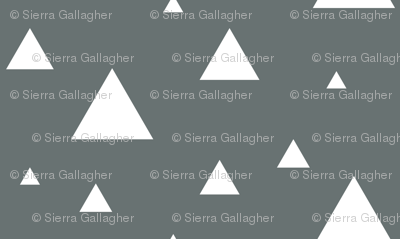 White Triangles on Grey
