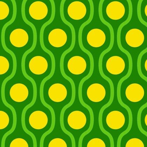waves and dots green