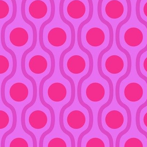 waves and dots pink