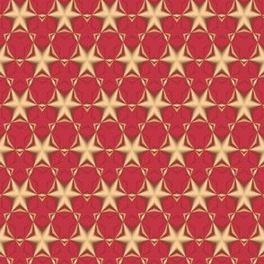 Gold Stars on Red © Gingezel™