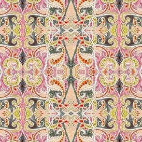 Peachy Paisley Patch