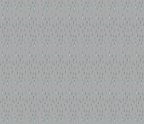 Raindrops fabric by craftwithcartwright on Spoonflower - custom fabric