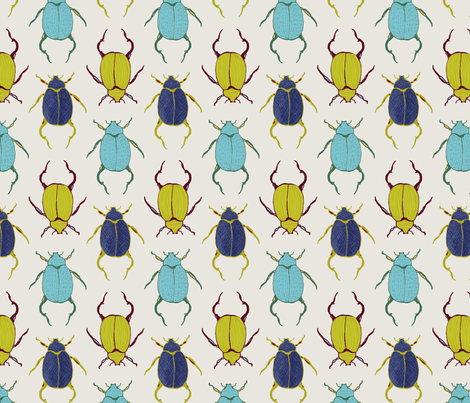 Beetles fabric by lauriebaars on Spoonflower - custom fabric