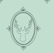 Frame deer - mint