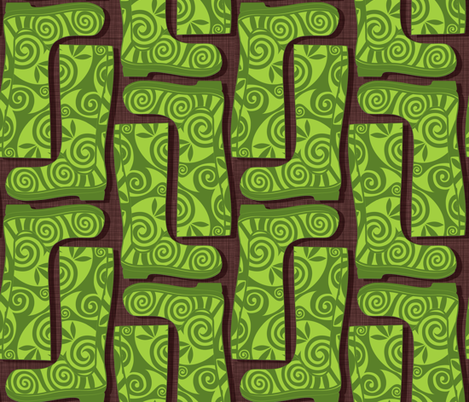 Frog Boot fabric by spellstone on Spoonflower - custom fabric