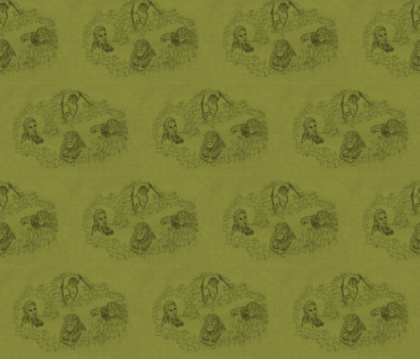 Jane Goodall fabric by zandloopster on Spoonflower - custom fabric
