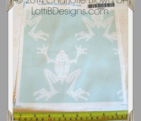 Fabulous Frogs - Vintage Blue/White