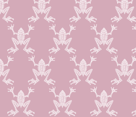 Fabulous Frogs - Fresh Rose fabric by lottibrown on Spoonflower - custom fabric