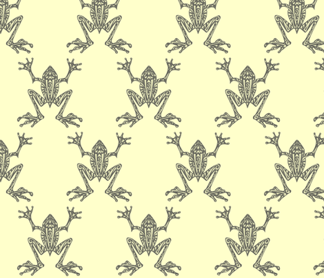 Fabulous Frogs - Pistachio fabric by lottibrown on Spoonflower - custom fabric