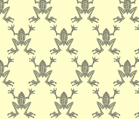 Fabulous Frogs - Pistachio fabric by lottibrown on Spoonflower - custom fabric