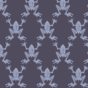 Fabulous Frogs - Midnight Blue