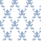 Fabulous Frogs - Soft Blue
