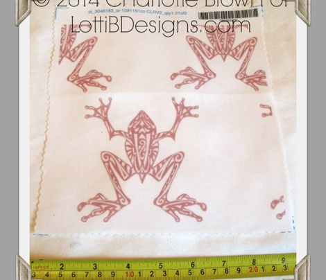 Fabulous Frogs - Soft Red/white