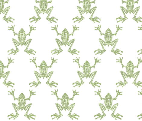 Fabulous Frogs - Soft Green fabric by lottibrown on Spoonflower - custom fabric