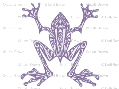 Fabulous Frogs - Soft Purple/White