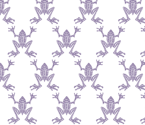 Fabulous Frogs - Soft Purple/White fabric by lottibrown on Spoonflower - custom fabric
