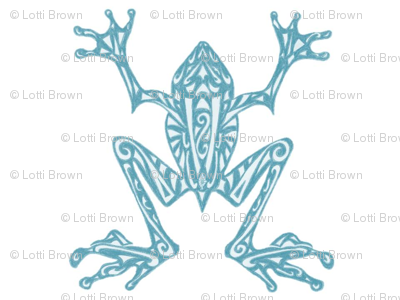 Fabulous Frogs - Soft Teal