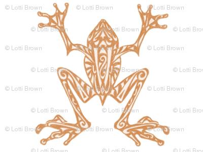Fabulous Frogs - Soft Orange/White