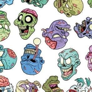 Zombie Heads White