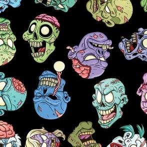 Zombie Heads Black