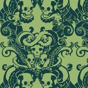 Skull & Tentacle in ecto green