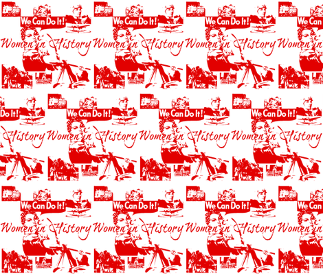Historic Women fabric by firedryad1 on Spoonflower - custom fabric