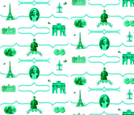 madame_curie_toile fabric by veesh_luhz on Spoonflower - custom fabric