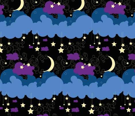 bedtime fabric by moonstruck on Spoonflower - custom fabric