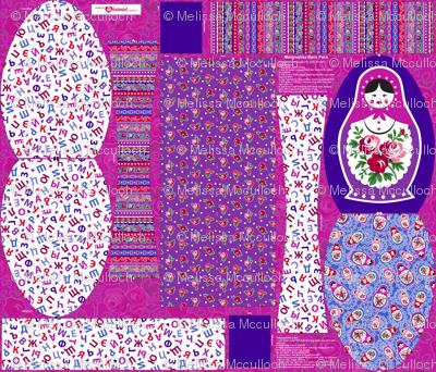 Matryoshka backpack pattern