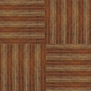 Grass Mat Basket Weave - variegated walnut & rosewood