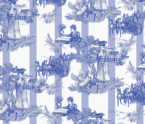 Selma Lagerlöf Toile fabric by fossan on Spoonflower - custom fabric