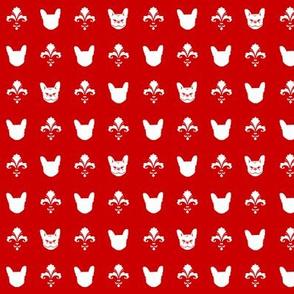 French Bulldog Fleur - Red & White