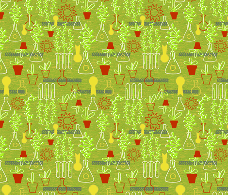 Science Fair Yellow Ribbon fabric by vinpauld on Spoonflower - custom fabric
