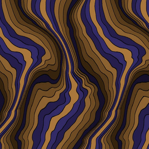flowing wave - purple brown