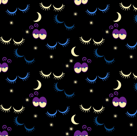 Sleep fabric by alfabesi on Spoonflower - custom fabric